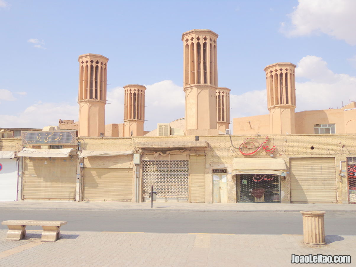 Wind towers in Yazd Iran