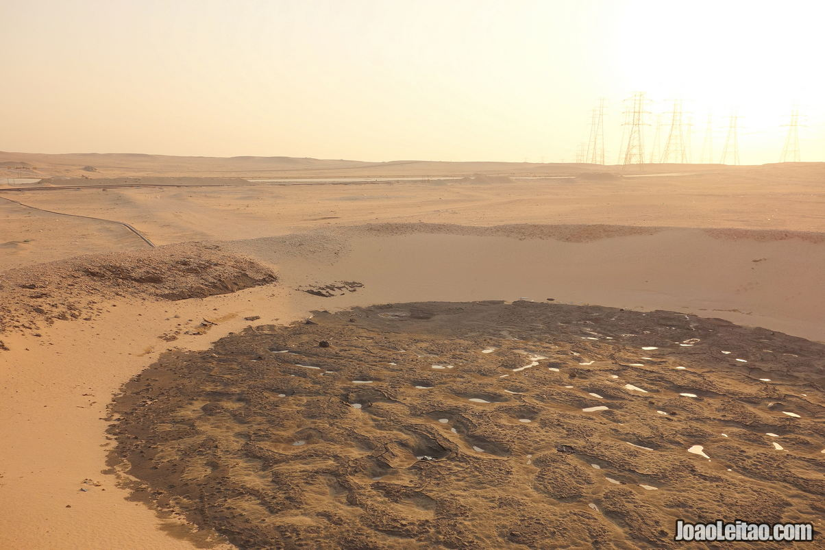 Al Bahra Oil Lake in Kuwait
