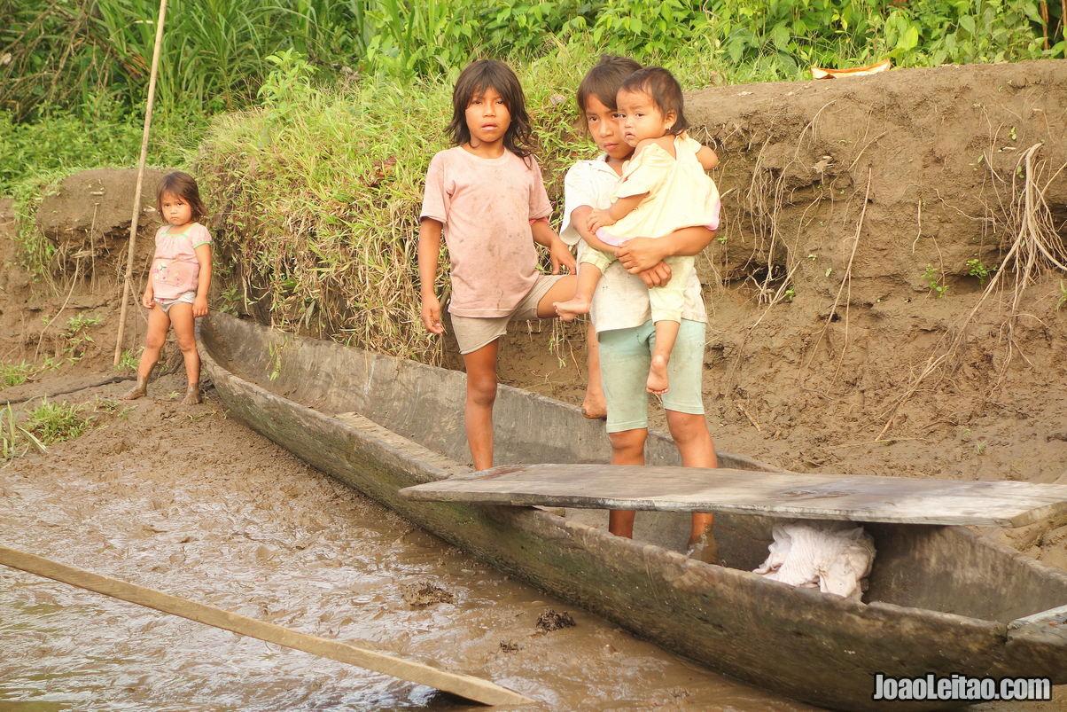 Children in the Amazon of Ecuador