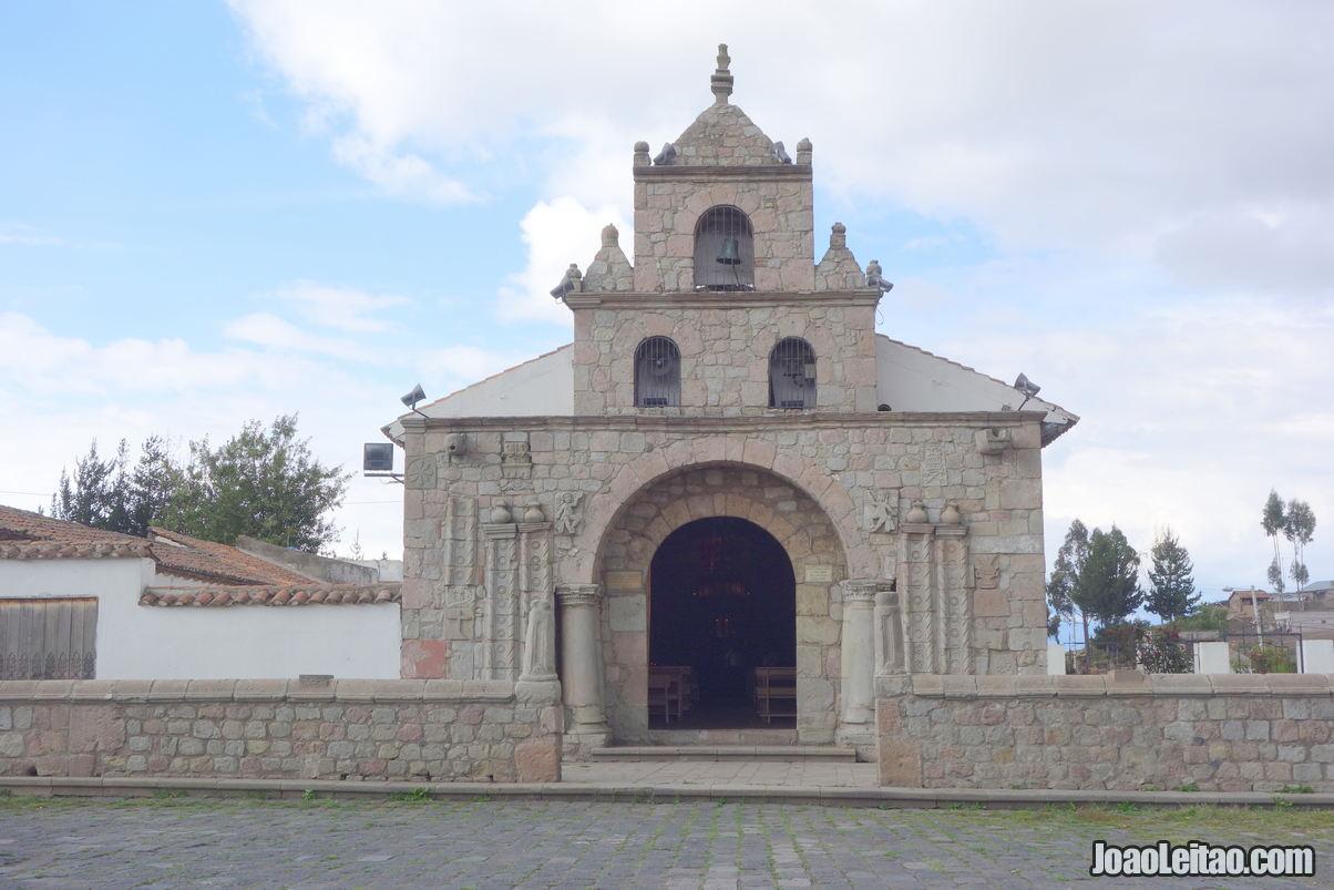 Balbanera Church of Colta in Ecuador