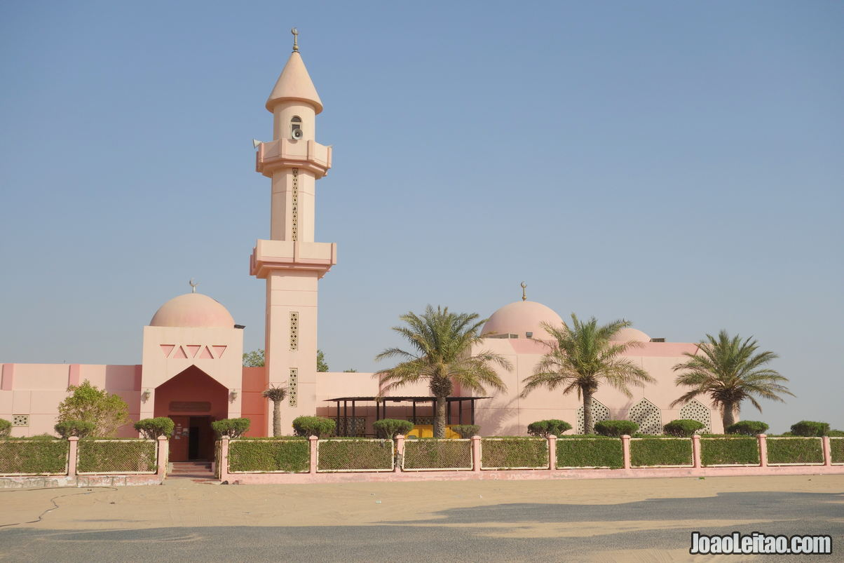 Ftooh Pink Mosque in Kuwait
