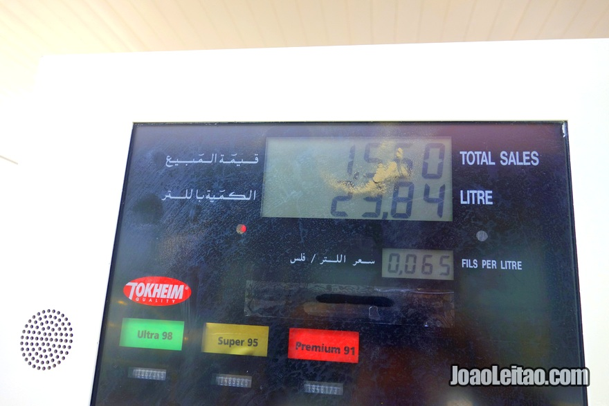 Price of Fuel in Kuwait