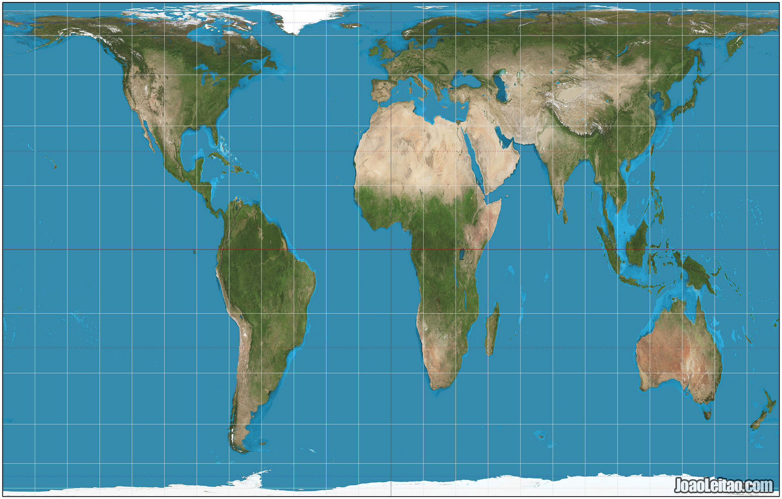 World map with the Peters projection