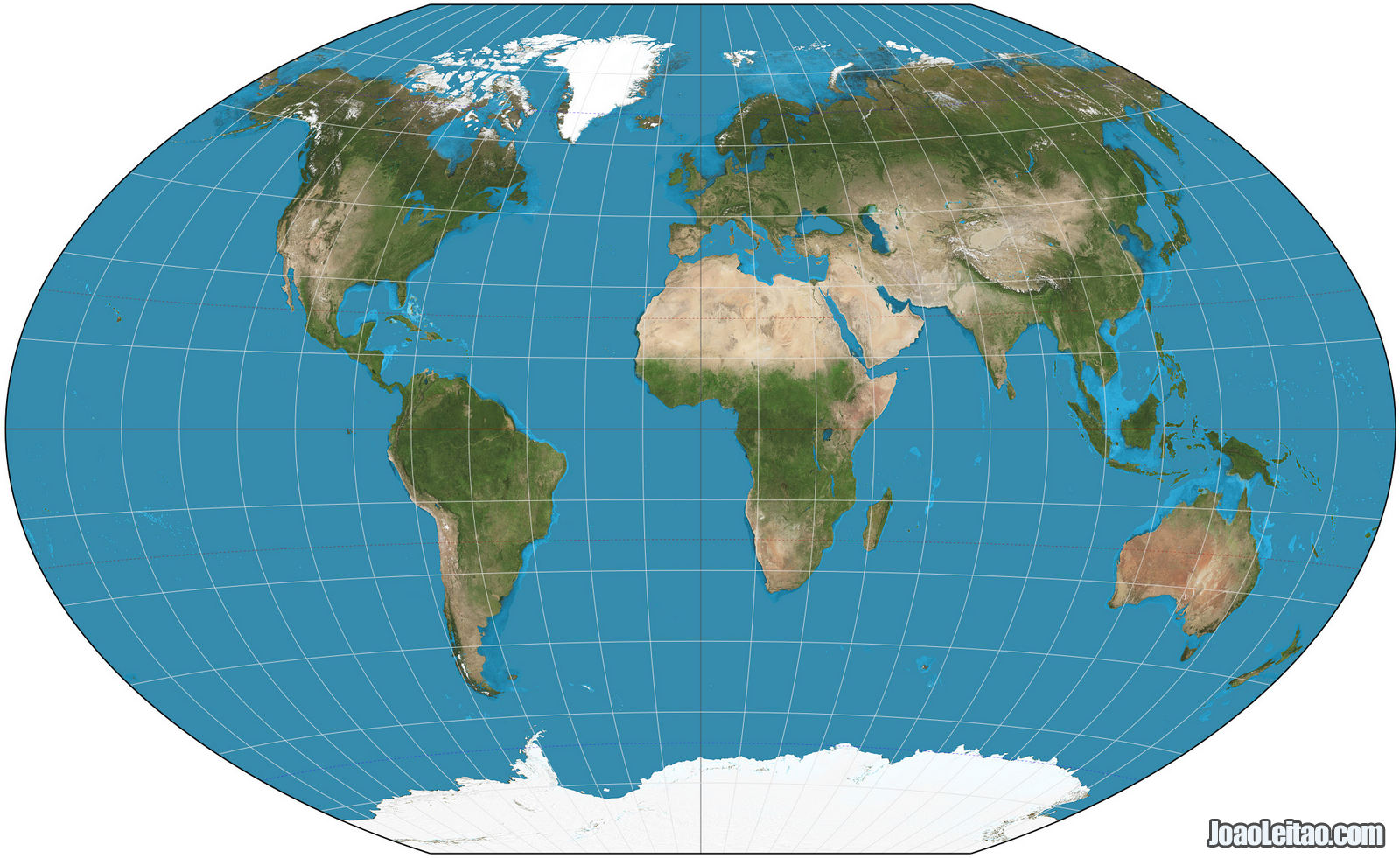 World map with the Winkel Tripel projection