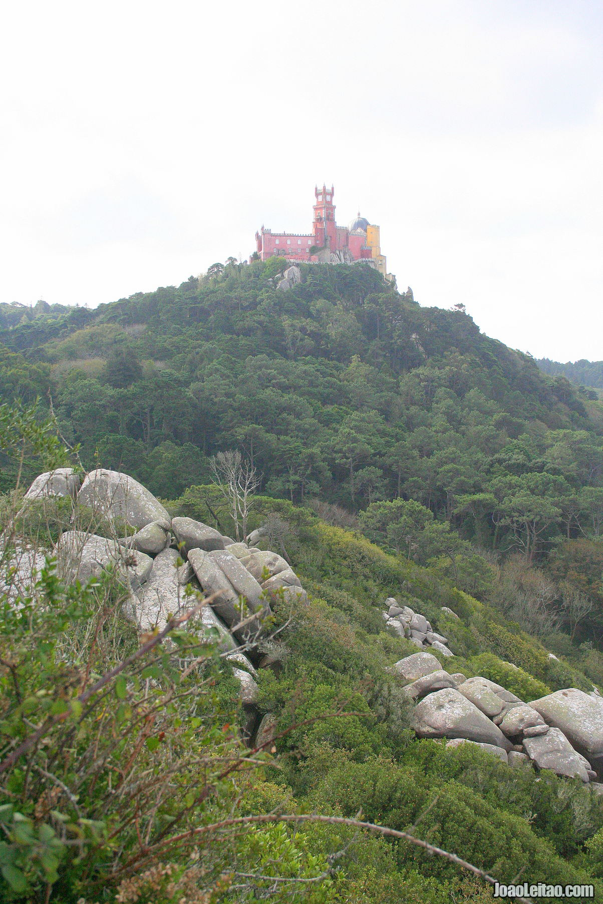 View from the Pena Palace in Sintra Portugal