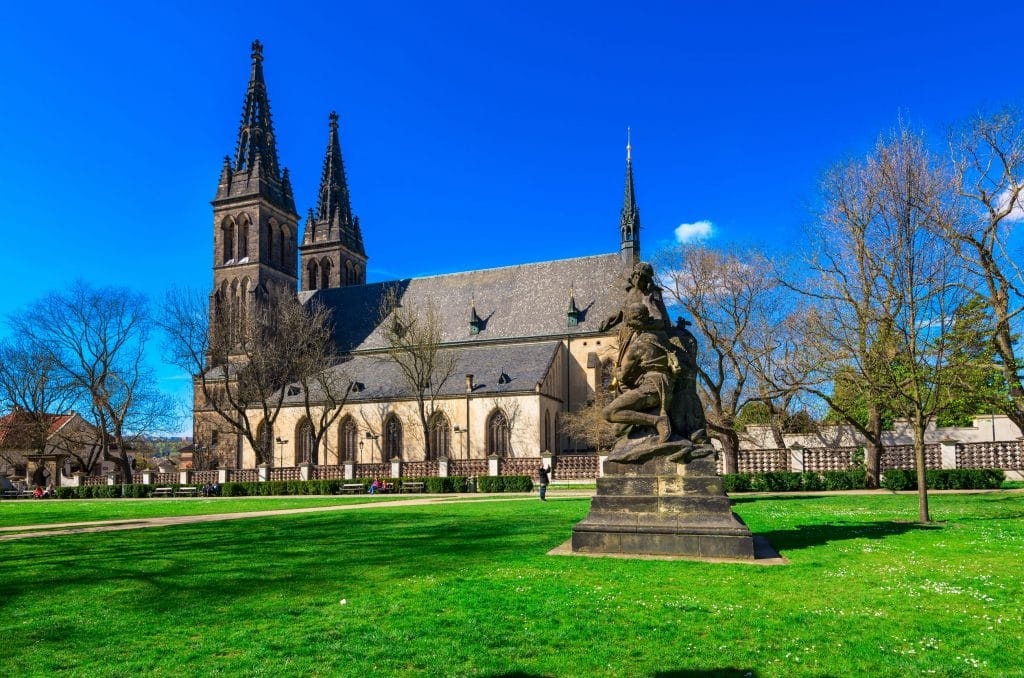 Neo Gothic Basilica of St Peter and St Paul in Vysehrad fortres