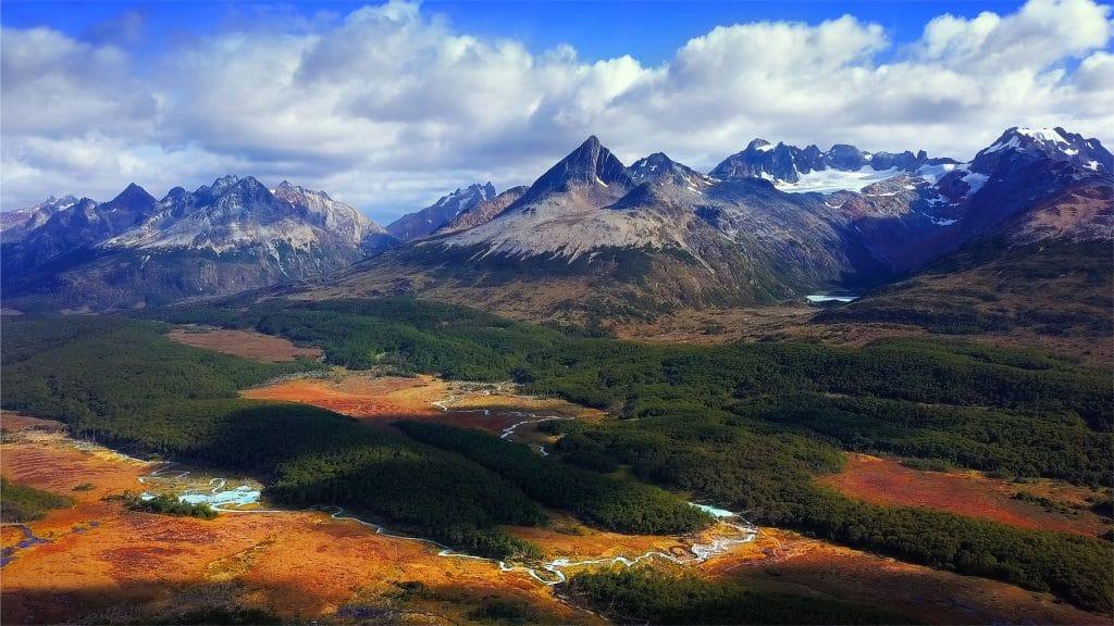Los Lobos valley near the town Ushuaia in Tierra del Fuego, Argentina