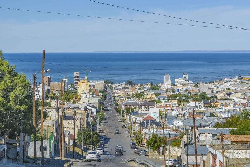View from the top of the hill of Comodoro Rivadavia, the most important city of Argentinian Patagonia