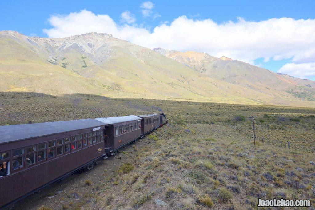 Train La Trochita in Patagonia