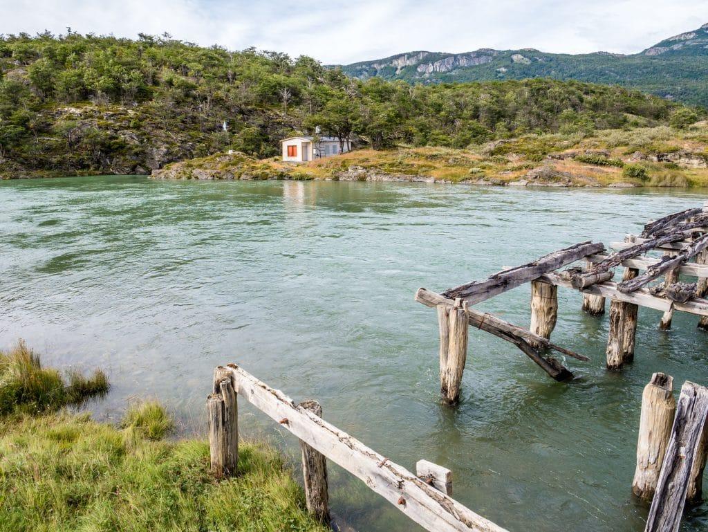 Lapataia River in Tierra del Fuego