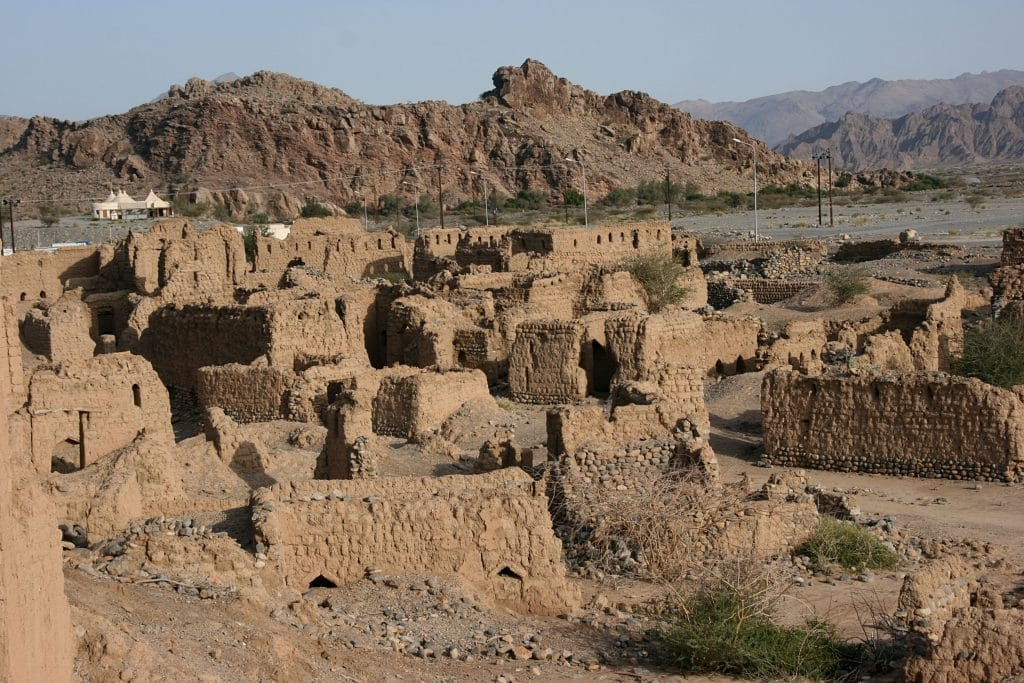 Historic ruins in Tanuf