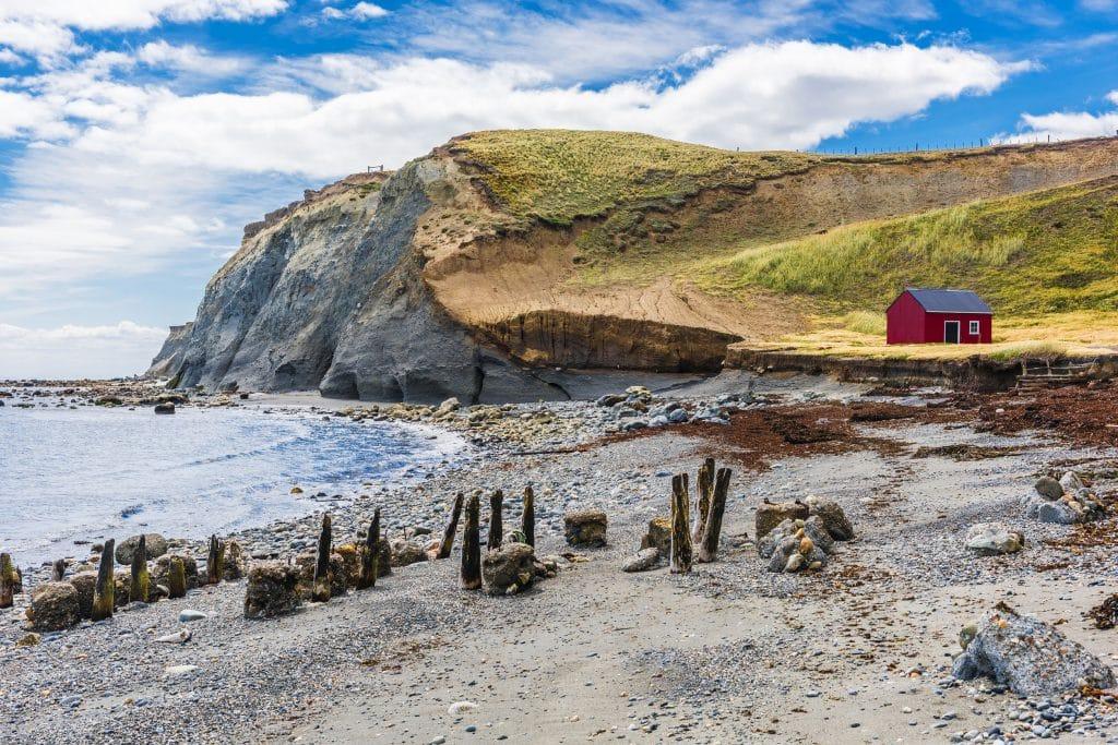 Cameron village in Tierra del Fuego, Chile