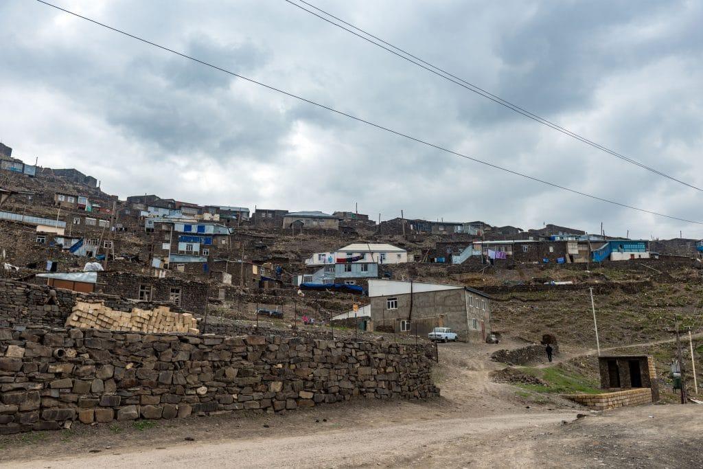 Ancient high mountain village Xinaliq