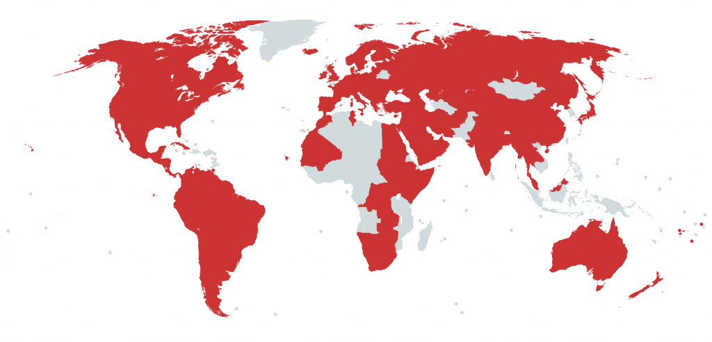 Map of Visited Countries 2020