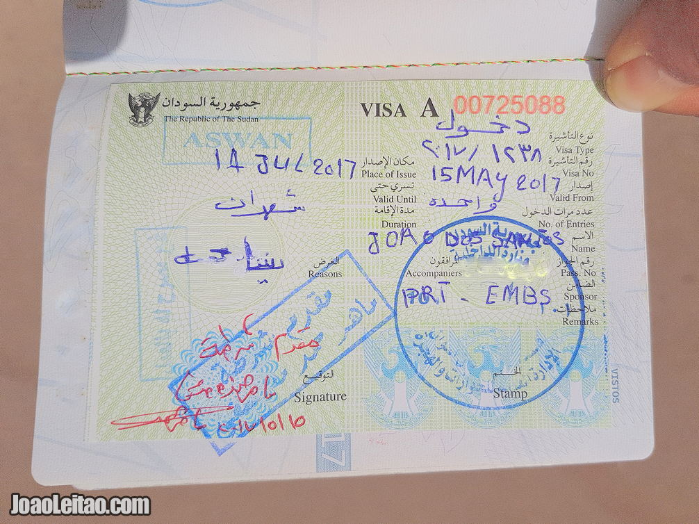 SUDAN VISA IN ASWAN